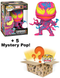 Funko Pop! Mystery Box - Carnage Blacklight #678 (+ Box of 5 Mystery Pop! Vinyl Figures) - The Amazing Collectables