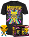 Funko Pop! Marvel: Blacklight - Wolverine Blacklight & T-Shirt Box Set - The Amazing Collectables