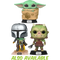 Funko Pop! Star Wars: The Mandalorian - The Mandalorian with The Child (Baby Yoda) Flying #402 - The Amazing Collectables