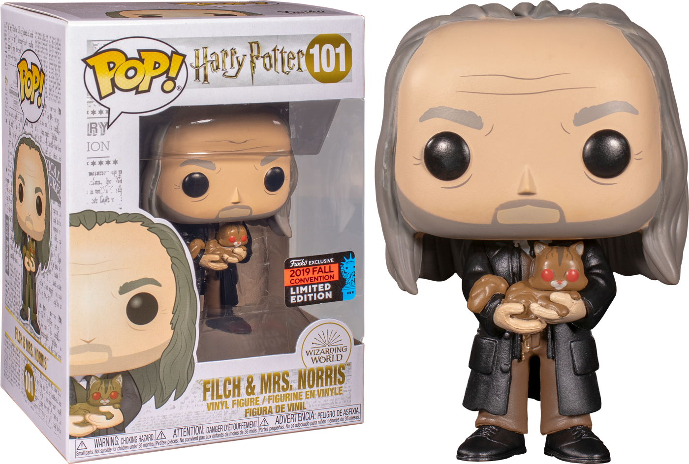 Funko Pop Harry Potter Argus Filch With Mrs Norris Yule Ball