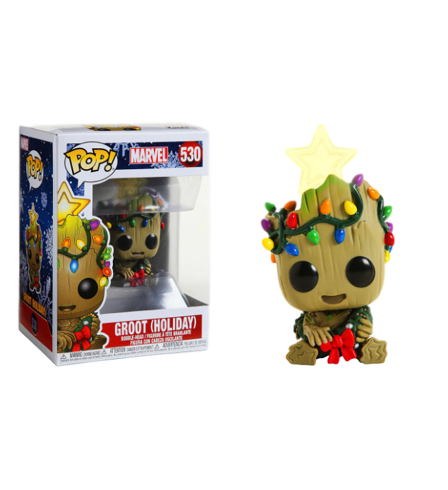 Funko Pop! Guardians Of The Galaxy - Baby Groot with Christmas Lights Holiday