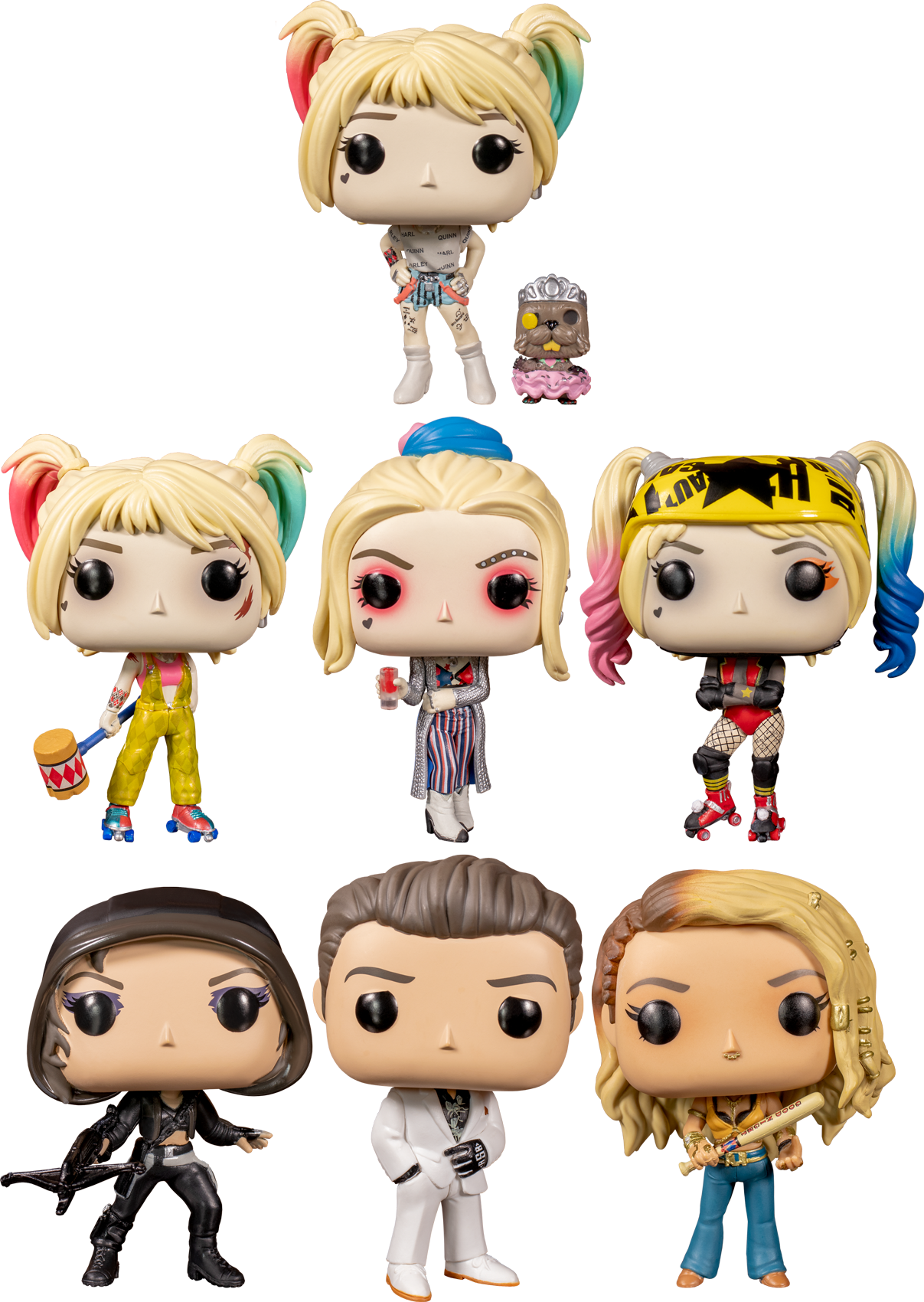 Funko Pop Birds Of Prey 2020 The Quinntessential Beaver Bundle Set Of 7 The Amazing Collectables