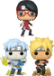 Funko Pop! Boruto: Naruto Next Generations - Hidden Leaf Village - Bundle (Set of 3) - The Amazing Collectables