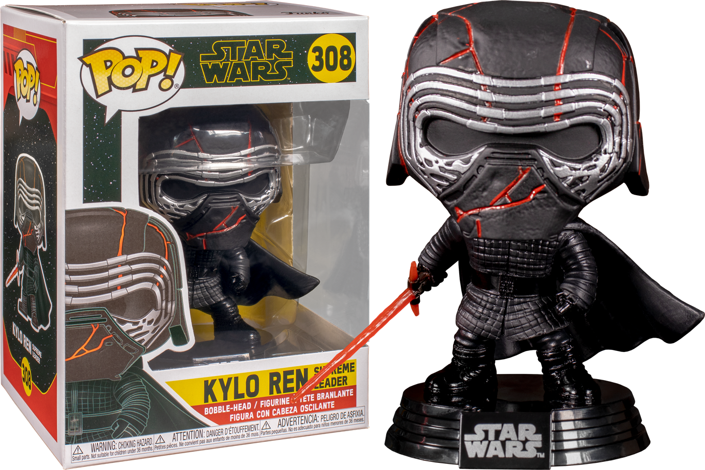 Funko Pop Star Wars Episode Ix The Rise Of Skywalker Kylo Ren Supreme Leader 308 The Amazing Collectables