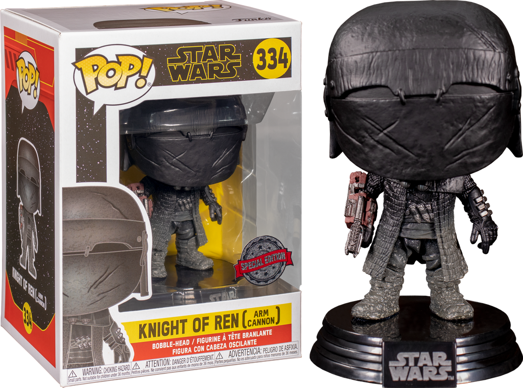 "STAR Wars Cavaliere di Ren BRACCIO CANNONE 3.75/"" POP Figura in vinile aumento di Skywalker 334"