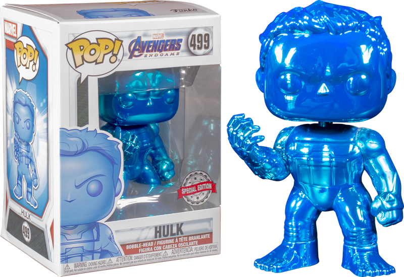 Funko Pop! Avengers 4: Endgame - Hulk with Nano Gauntlet Blue Chrome