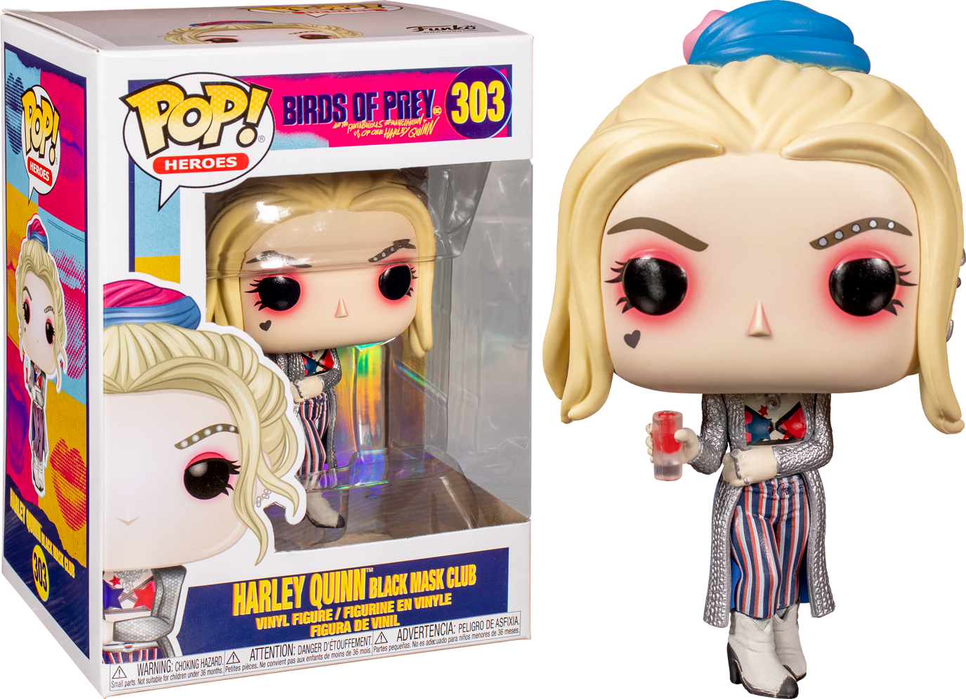 Funko Pop Birds Of Prey 2020 Harley Quinn Black Mask Club 303 The Amazing Collectables