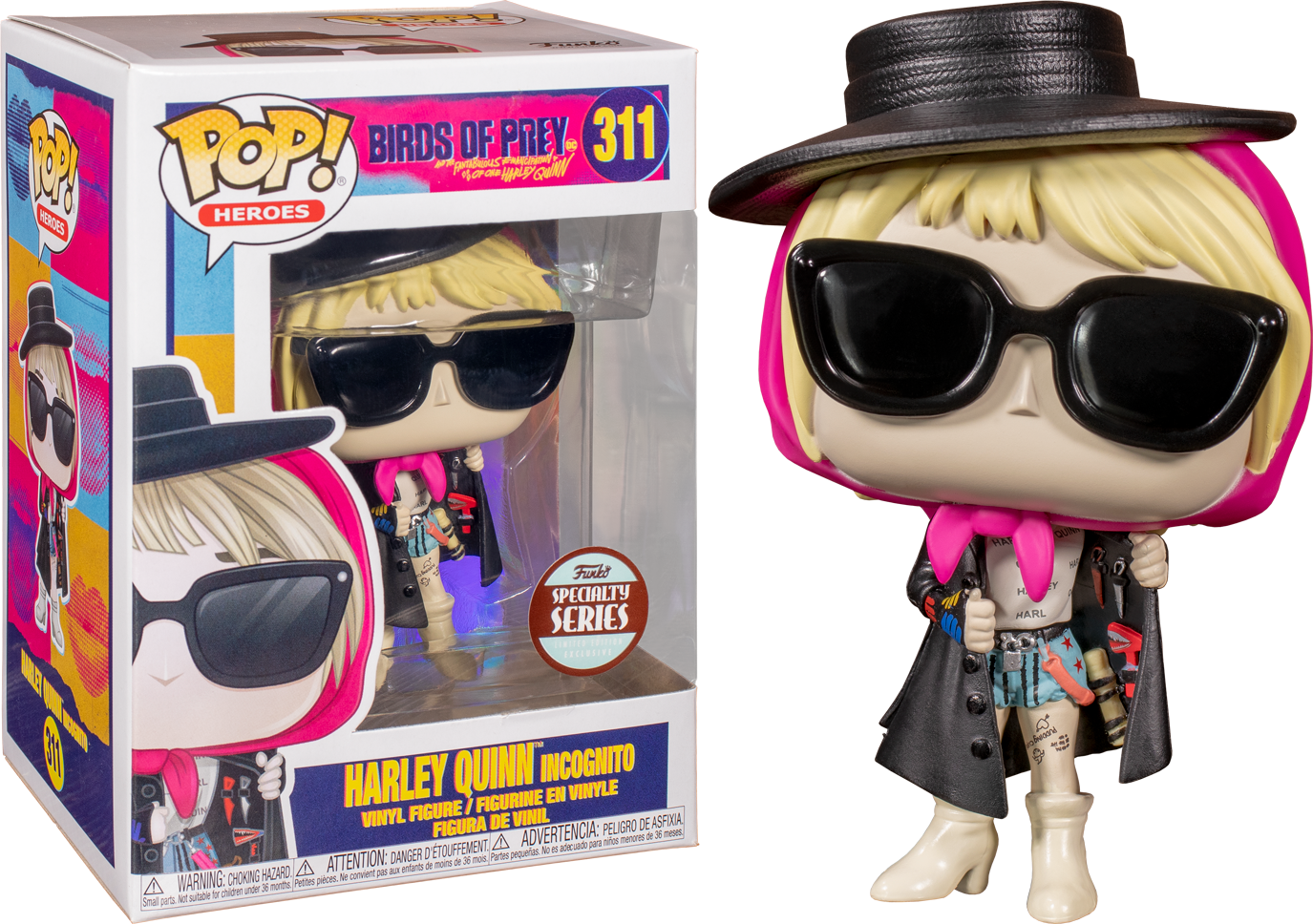 Funko Pop Birds Of Prey 2020 Harley Quinn Incognito 311 Specialty Series The Amazing Collectables