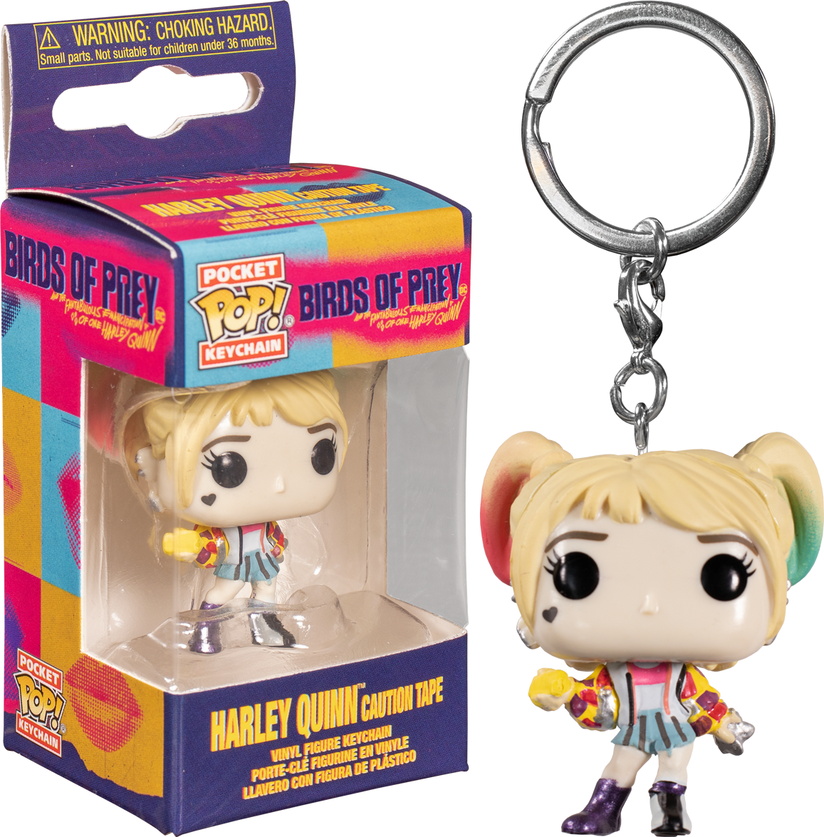 Funko Pocket Pop Keychain Birds Of Prey 2020 Harley Quinn With Caution Tape The Amazing Collectables