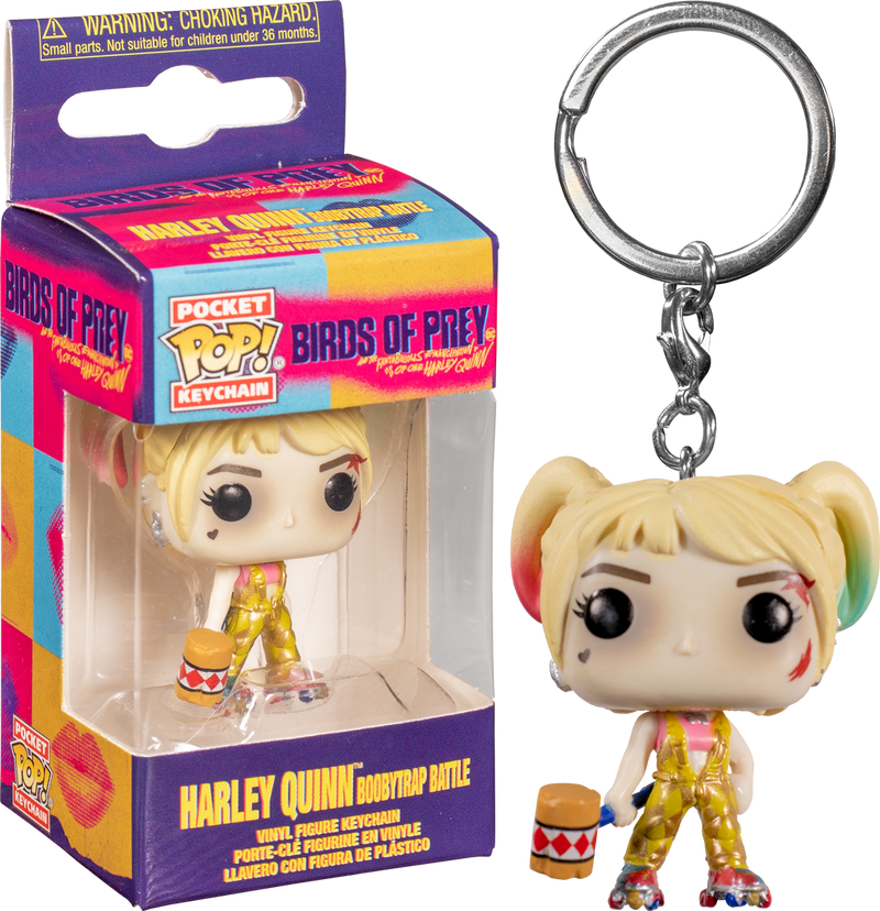 Funko Pocket Pop! Keychain -  Birds of Prey (2020) - Harley Quinn Boobytrap Battle - The Amazing Collectables