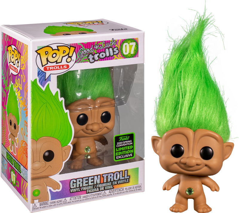 Funko Pop! Good Luck Trolls - Green Troll Doll