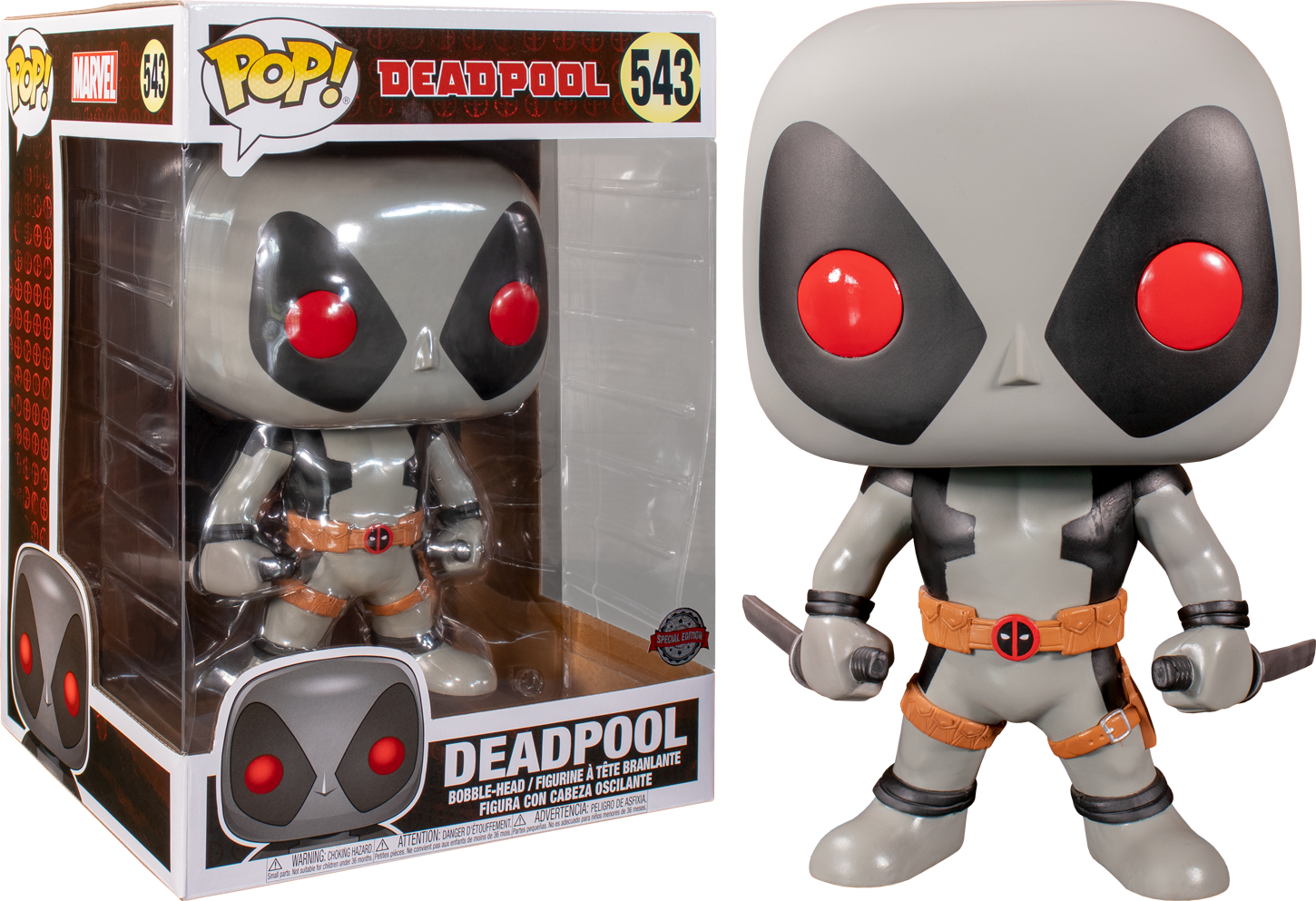 Funko Pop Deadpool Deadpool With Swords Grey 10 543 The Amazing Collectables