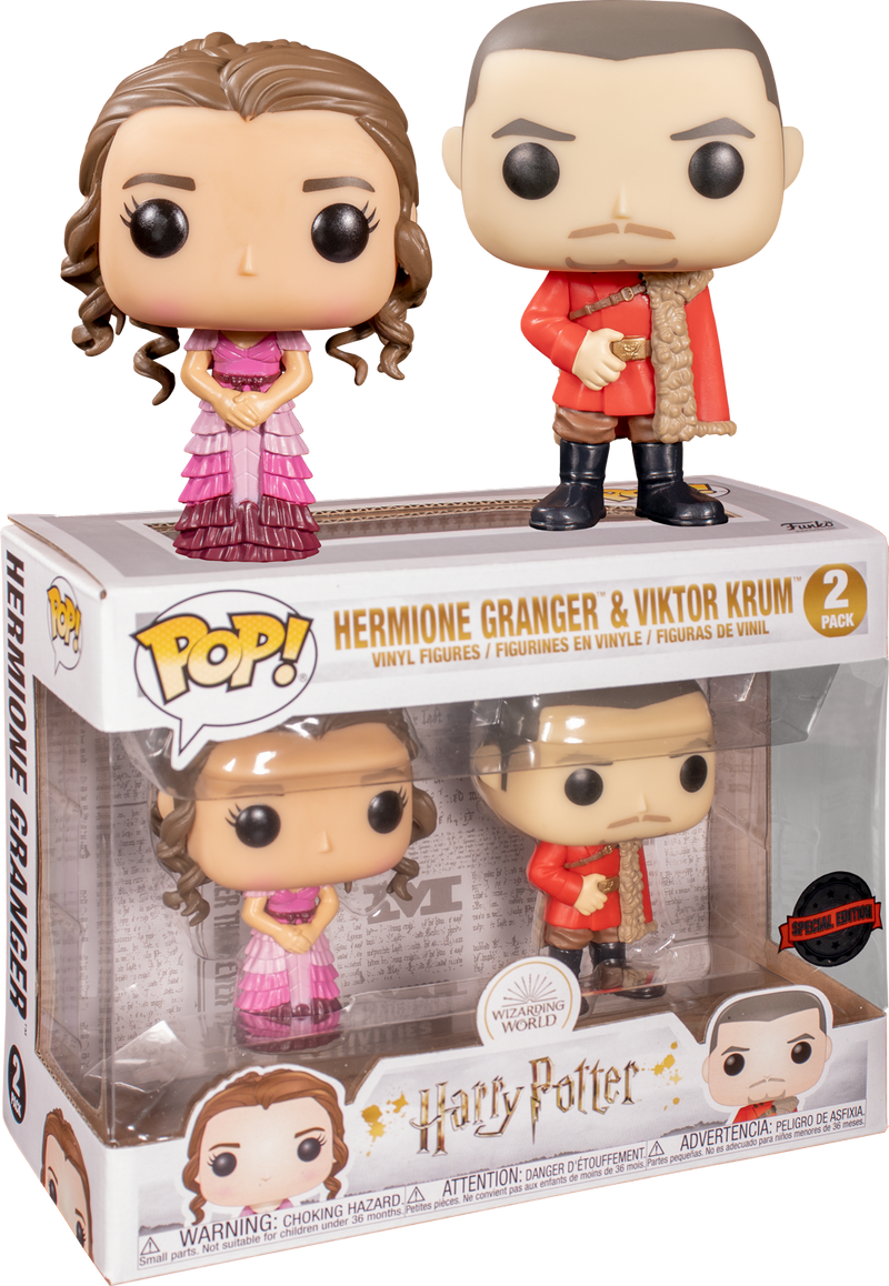 Funko Pop! Harry Potter - Hermione Granger and Viktor Krum Yule - 2-Pack - The Amazing Collectables