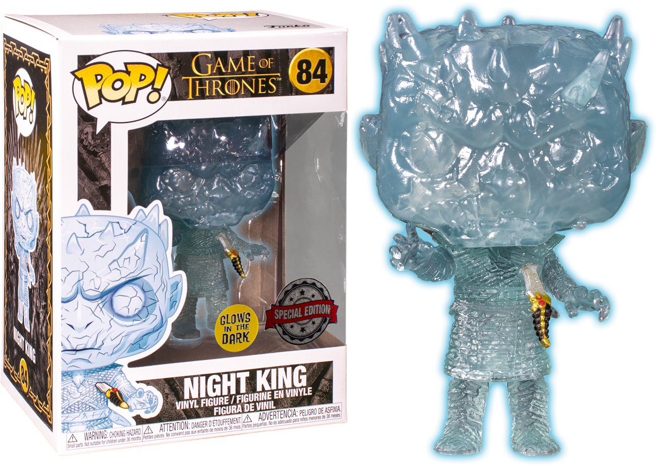 POP TV Funko Game Of Thrones Crystal Night King w// Dagger in Chest Brand New