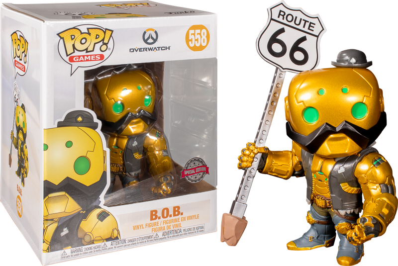 "Funko Pop! Overwatch - B.O.B. Gold Metallic 6"" Super Sized"