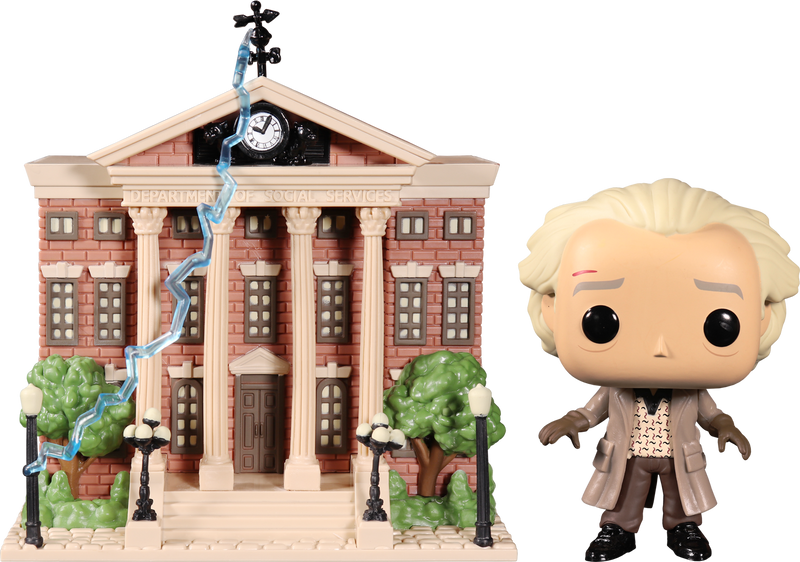 Funko Pop! Back To The Future - Dr. Emmett Brown with Clock Tower
