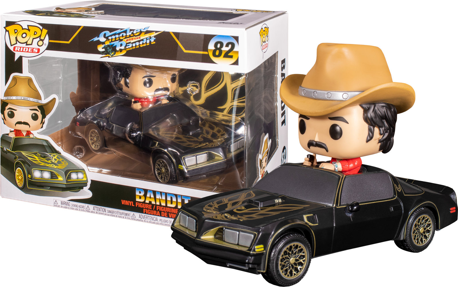 Multicolor Model Number: 47083 Funko Pop Movies: Smokey /& The Bandit Bo Bandit Darville