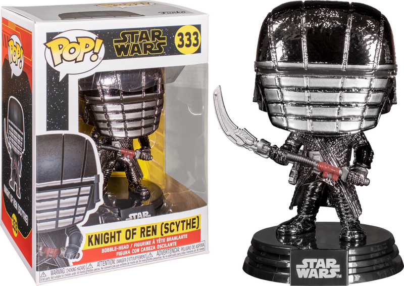 Funko Pop! Star Wars Episode IX: The Rise Of Skywalker - Knight Of Ren with Scythe Hematite Chrome