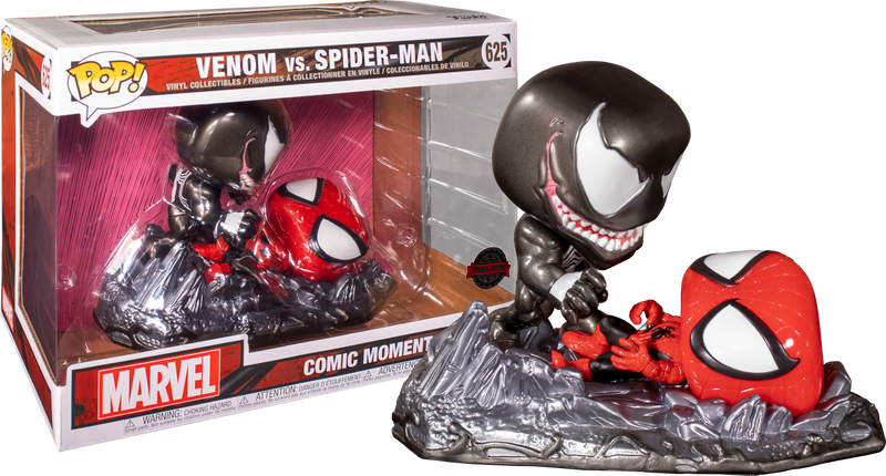 Funko Pop! Spider-Man - Venom vs Spider-Man Metallic Comic Moments - 2-Pack
