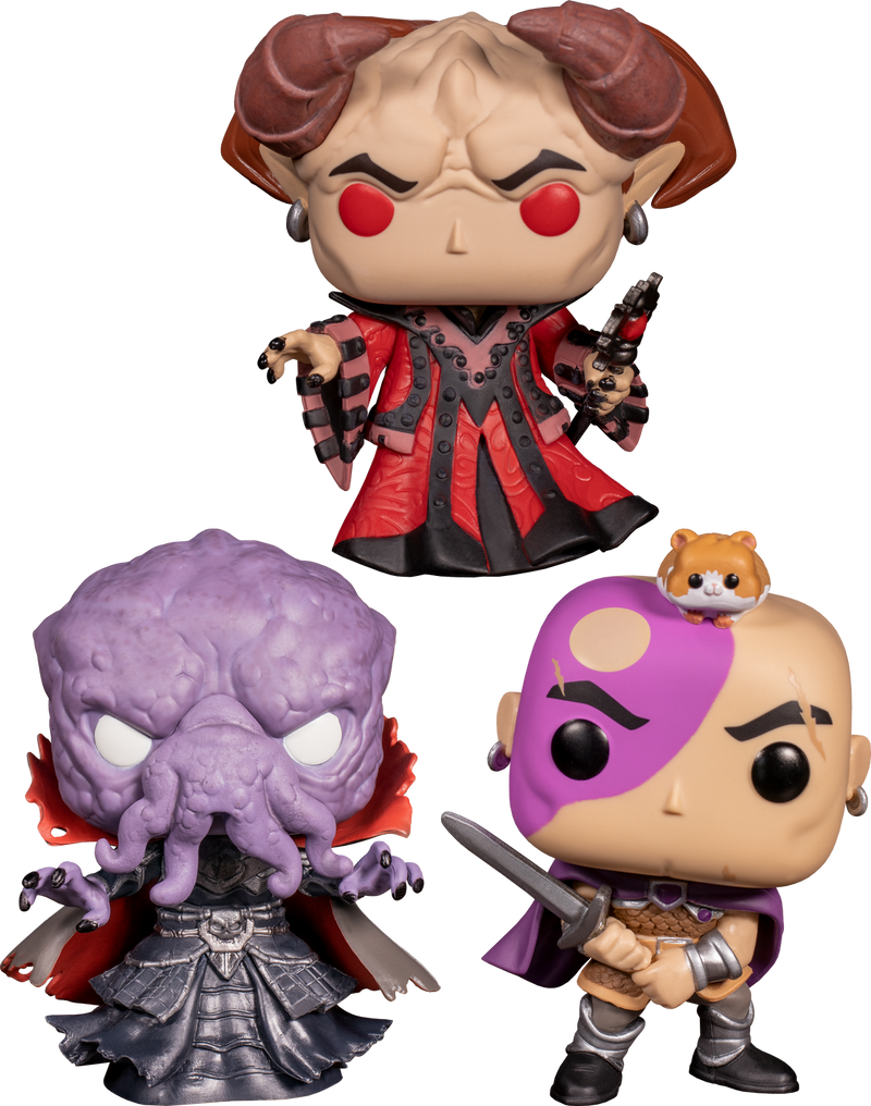Funko Pop! Dungeons & Dragons - Flayin' in the Wind - Bundle (Set of 3) - The Amazing Collectables