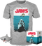 "Funko - Jaws - Bloody Great White Shark 6"" Super Sized - Vinyls Figure & T-Shirt Box Set - The Amazing Collectables"