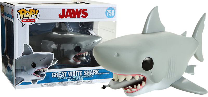 "Funko Pop! Jaws - Jaws with Diving Tank 6"" Super Sized"