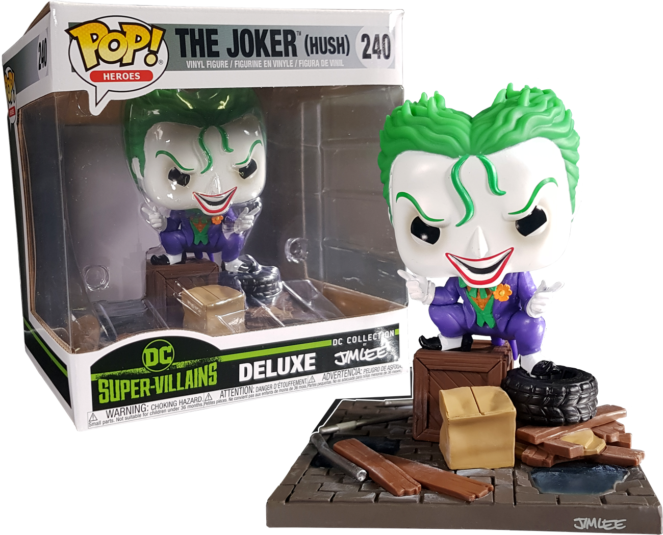 Funko Pop Batman Hush Joker In Alley Jim Lee Collection Deluxe 240 The Amazing Collectables