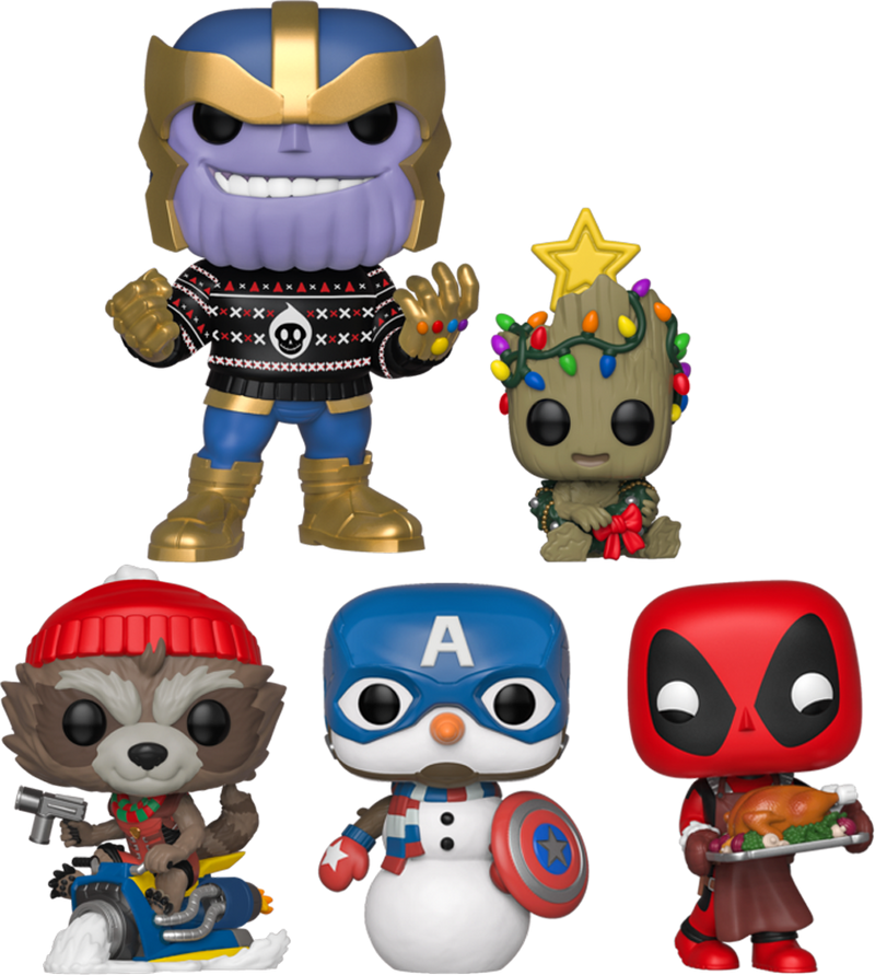 Funko Pop! Marvel - The Inevitable Holiday - Bundle (Set of 5) - The Amazing Collectables