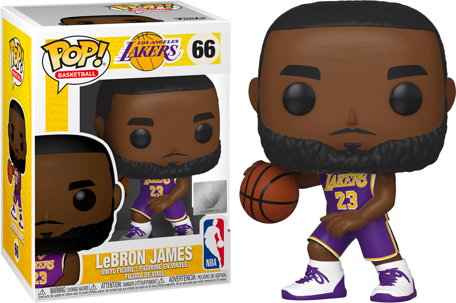 Funko Pop Nba Basketball Lebron James L A Lakers 66 The Amazing Collectables