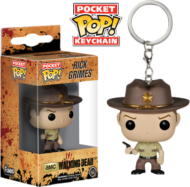 Funko Pocket Pop! Keychain -  The Walking Dead - Rick Grimes - The Amazing Collectables