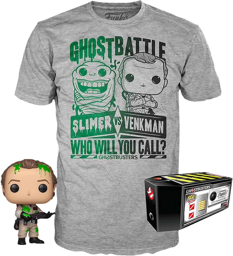 Funko - Ghostbusters - Dr. Peter Venkman with Slime - Vinyl Figure & T-Shirt Box Set - The Amazing Collectables