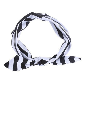 Dream Headband | Black and White Stripe