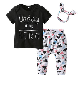 Daddy Is My Hero Baby Girl Police Daddy Bodysuit Outfit