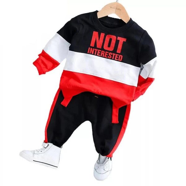 """Not Interested"" Colorful Baby Outfit"