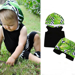 Tropical Green Island Short Set | 12M
