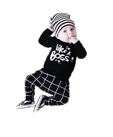 Like A Boss Outfit Set | 3-24M