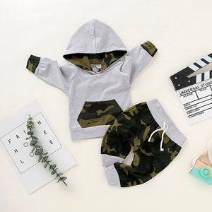Baby Clothes Newborn Infant Baby clothing Toddler Baby Boys Girls Winter Camouflage Hoodie Sweatshirt Tops Pants Clothes Set
