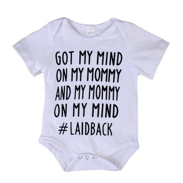My MIND ON MY MOMMY Funny Onesie ® Sibling Shirt 90'S lover baby Baby Shower Gift Unisex baby clothes