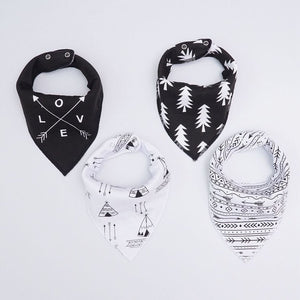 Love and Tribal Black and White Dribble Bib Set