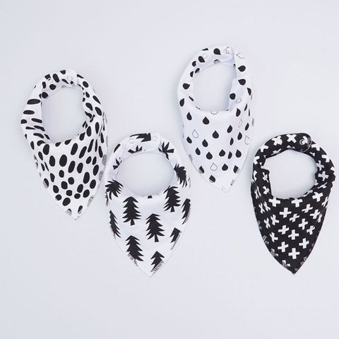 Black and White Shapes Dribble Bib Set