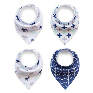 Baby Blue Deer Dribble Bib Set