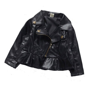 Baby Girls Faux Leather Jacket | 9-24M