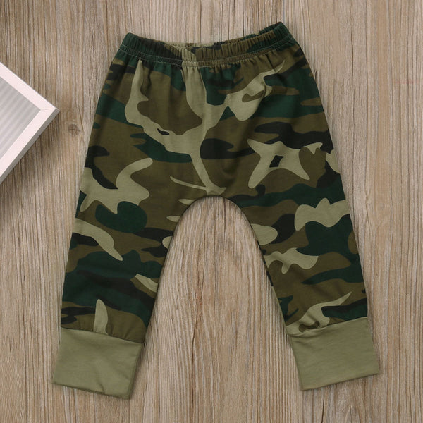 """Daddy's Boy"" Camo T-shirt and Pants Set 