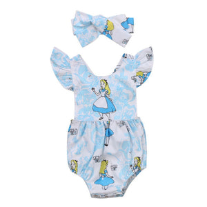 Sweet Alice Romper and Headband | 6-24M
