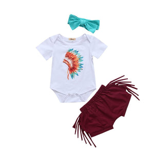 Aponi Tribal Short Set | 3-24M