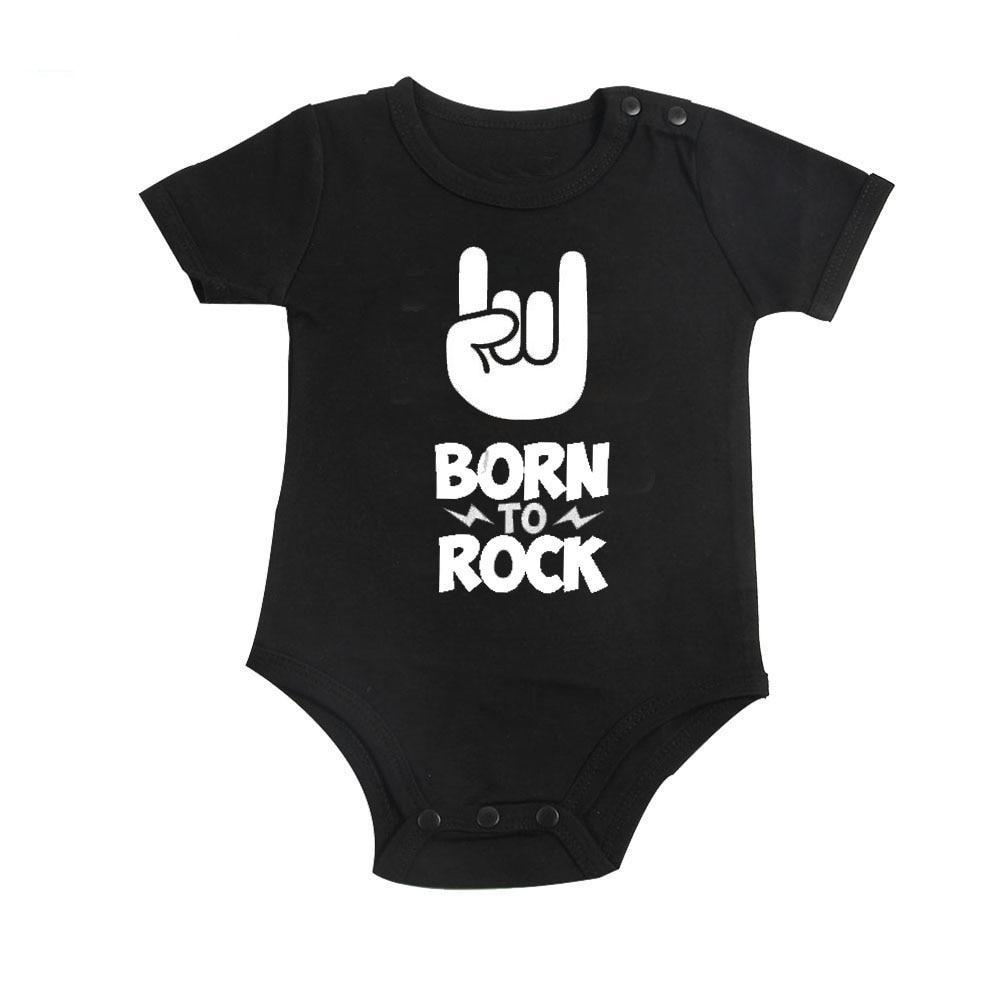 61abb2f81 Born to Rock Baby Bodysuit, Bringing Home Baby Outfit, Cool Baby Clothes,  New ...