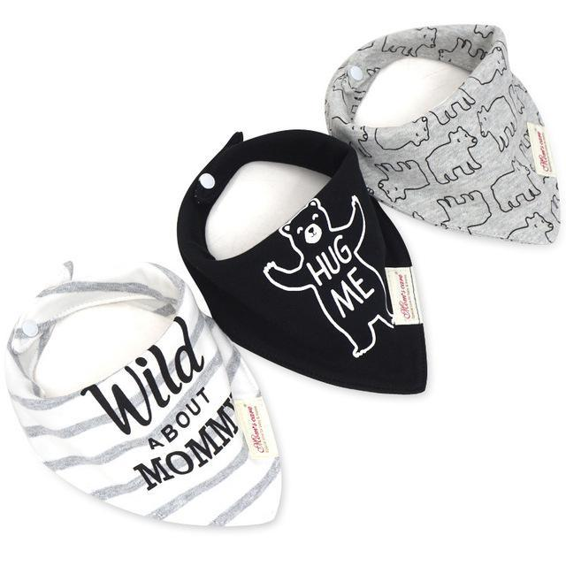 "3 Piece Trendy ""Wild About Mommy"" Baby Dribble Bib"