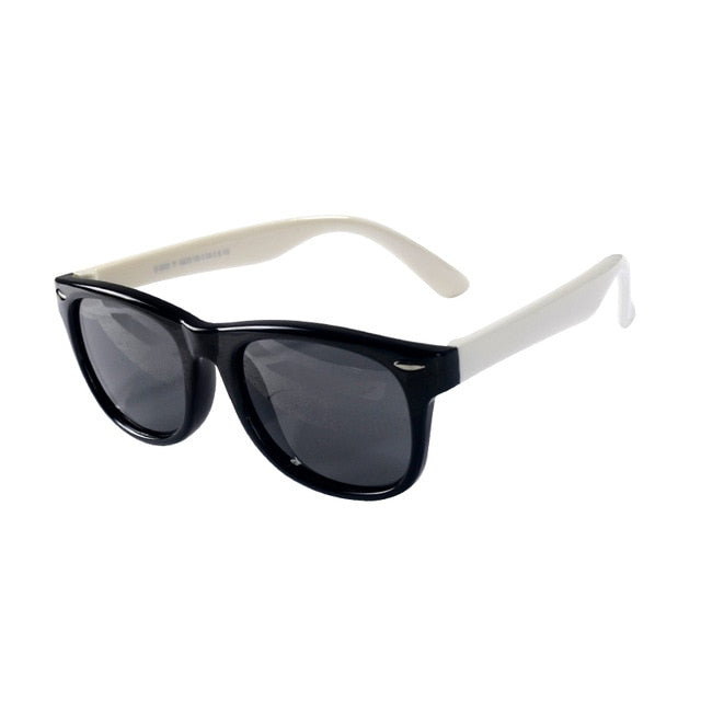 SOL Polarized Sunglasses Infant Sun Protection  | 0-2 Years | Black and White
