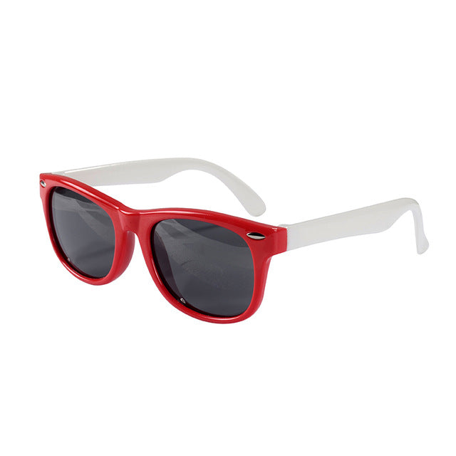 SOL Polarized Sunglasses Infant Sun Protection  | 0-2 Years | Red and White