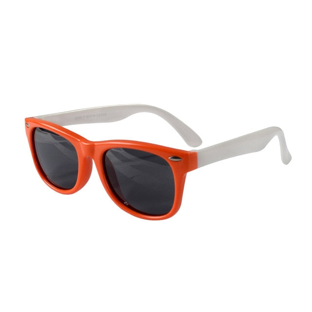 SOL Polarized Sunglasses Infant Sun Protection  | 0-2 Years | Orange and White